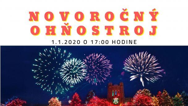 Privítanie Nového roka 2020 a Novoročný ohňostroj