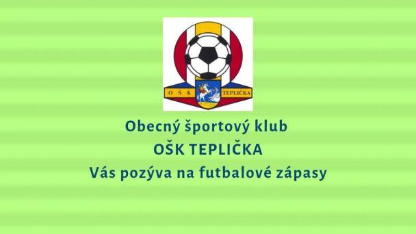 Futbalové výsledky OŠK Teplička - 14.4.2019
