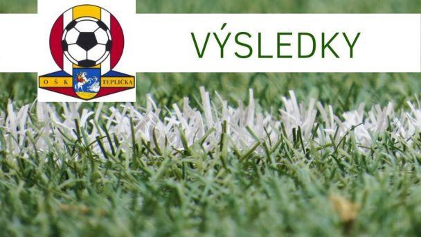 Výsledky futbalových zápasov OŠK Teplička