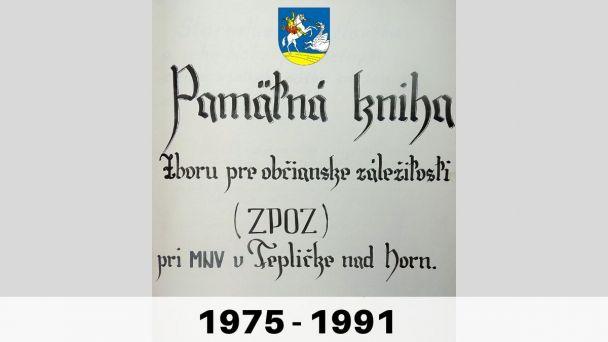 Pamätná kniha obce Teplička 1975 - 1991