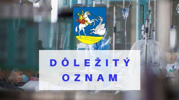 Zákaz organizovania kultúrnych, športových a spoločenských akcií v obci.