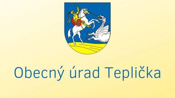 VEREJNÁ VYHLÁŠKA - Rozšírenie kanalizácie v obci Teplička II. etapa