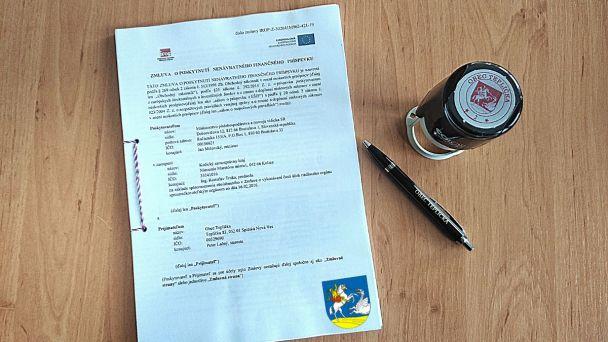 Podpis zmluvy na financovanie ČOV Teplička