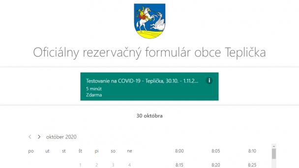 Rezervujte sa na plošné testovanie na COVID-19