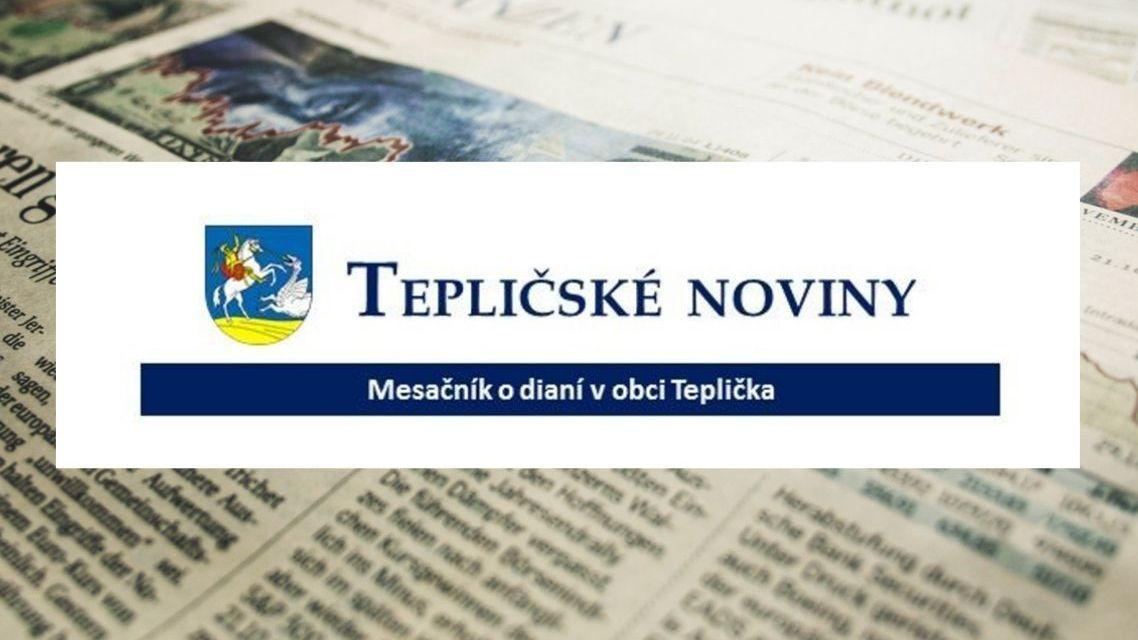 Tepličské noviny - nové vydanie