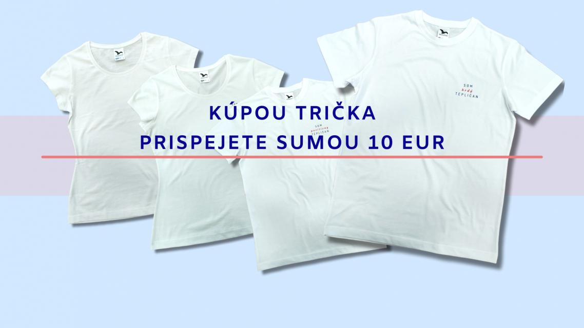 Kúpou trička podporíte výstavbu  plochy pre zimné a letné korčuľovanie